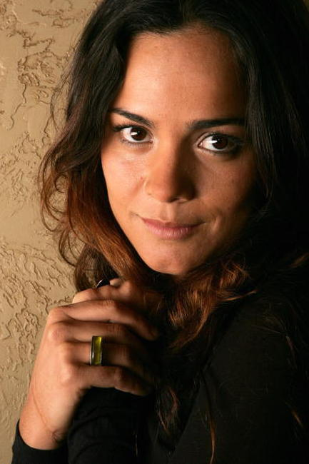 Alice Braga in a portrait at the Getty Images Portrait Studio during the 2006 Sundance Film Festival.