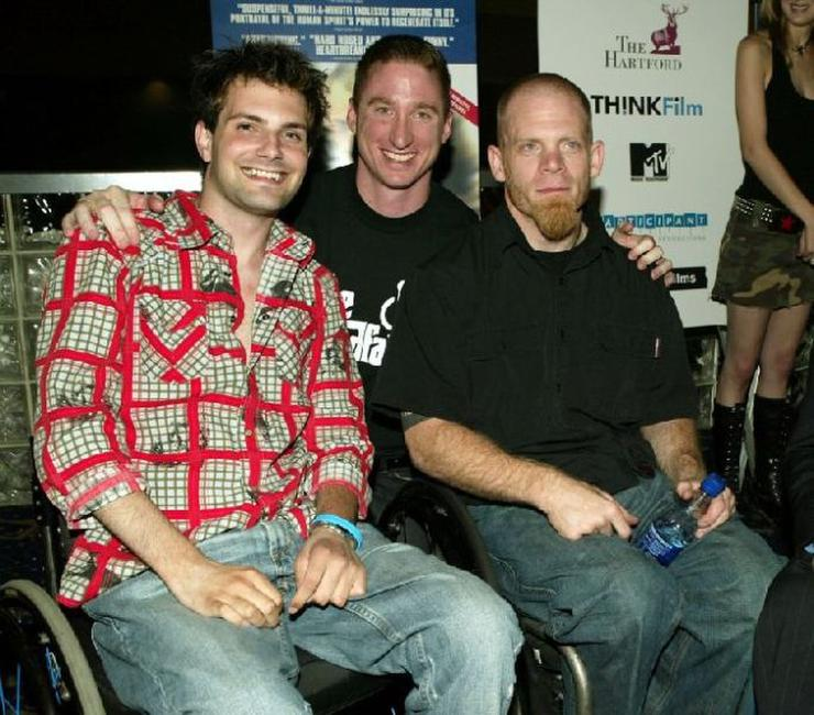 Keith Cavill, Chris Igoe and Mark Zupan at the premiere of
