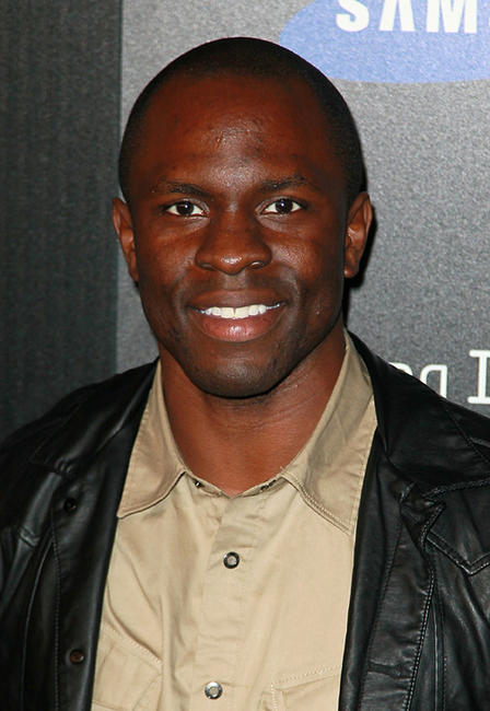 Gbenga Akinnagbe at the Samsung Infuse 4G launch event in Los Angeles.