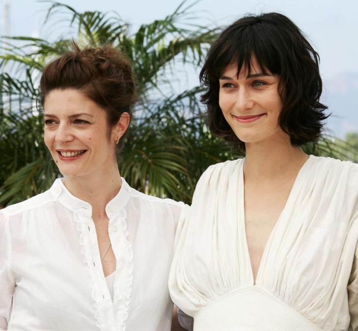 Chiara Mastroianni and Clotilde Hesme at the photocall of