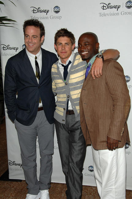 Paul Adelstein, Chris Lowell and Taye Diggs at the Disney and ABC's TCA - All Star party in California.