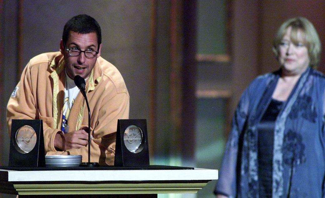 Kathy Bate and Adam Sandler at the Sixth Annual Blockbuster Awards.
