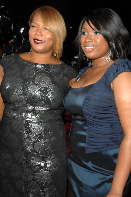 Queen Latifah and Jennifer Hudson at the premiere of