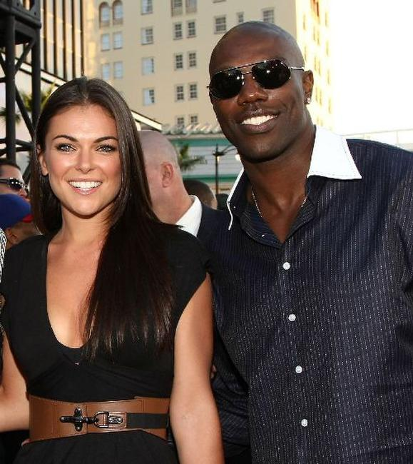 Serinda Swan and Terrell Owens at the premiere of