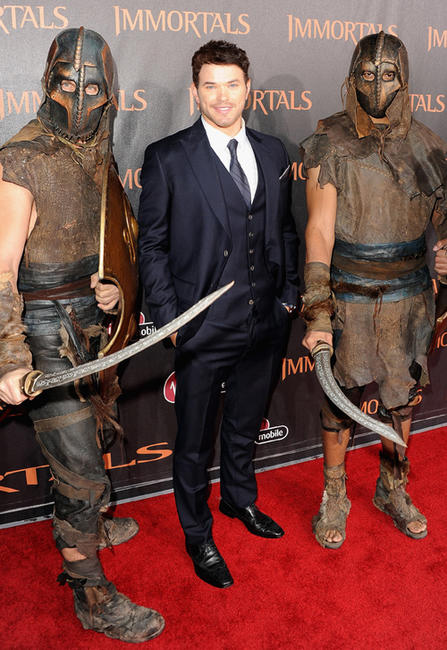 Kellan Lutz at the world premiere of