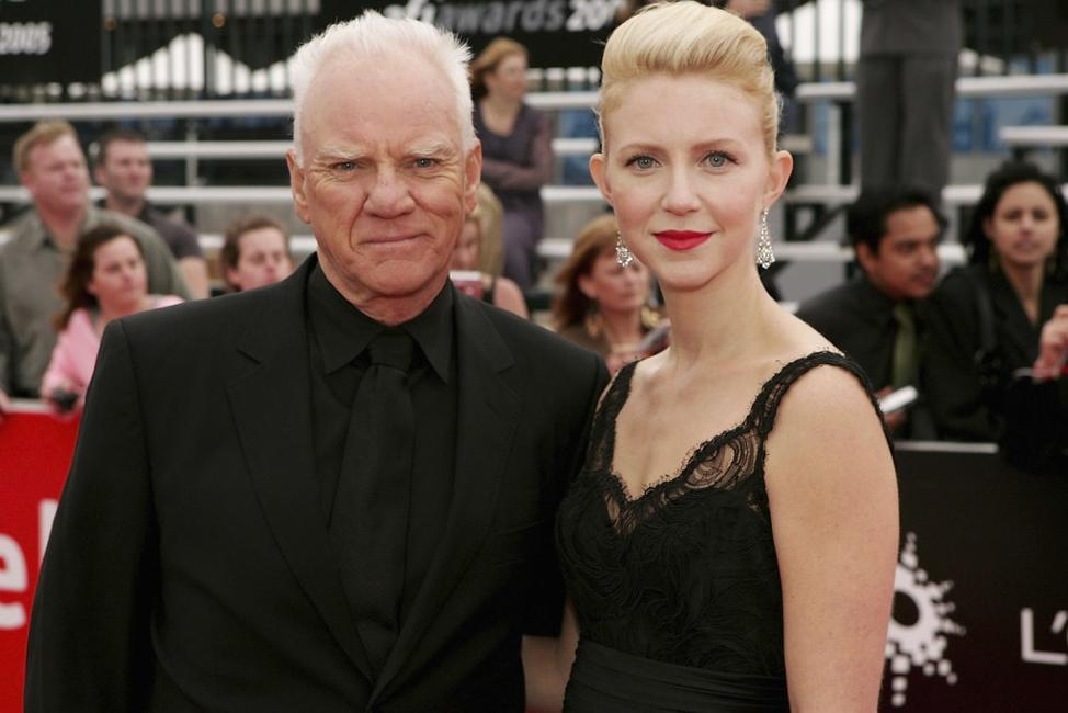 Malcolm McDowell and his Daughter Lilly at the L'Oreal Paris 2005 afi Awards.