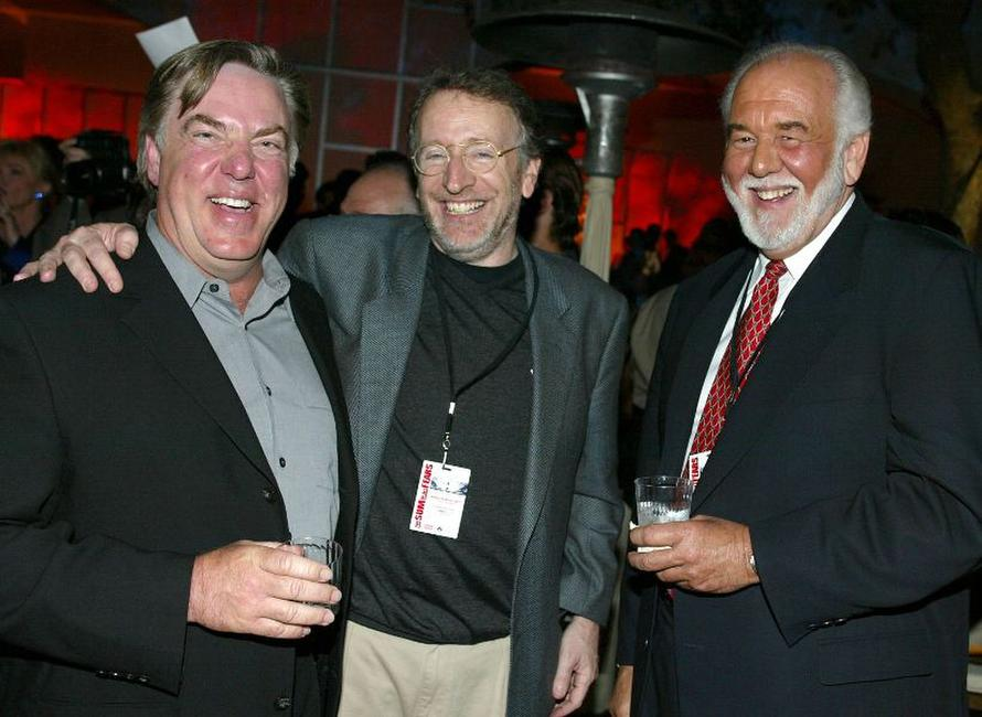 Bruce McGill, director Phil Alden Robinson and Chase Brandon at the premiere of