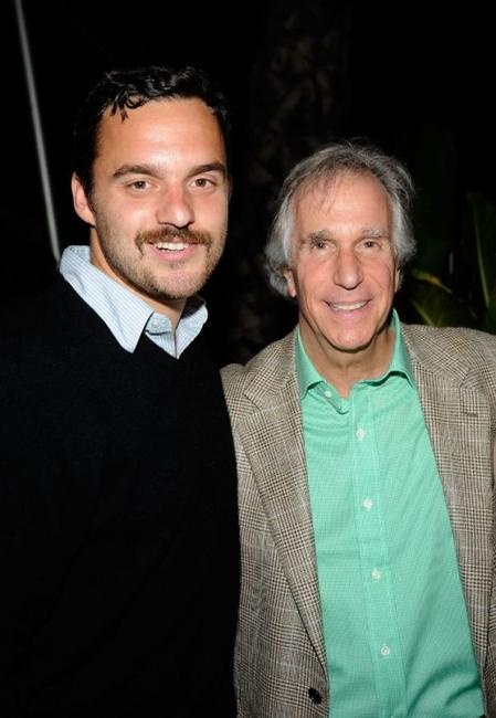 Jake Johnson and Henry Winkler at the Los Angeles screening of