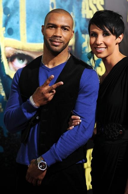 Omari Hardwick and Guest at the premiere of
