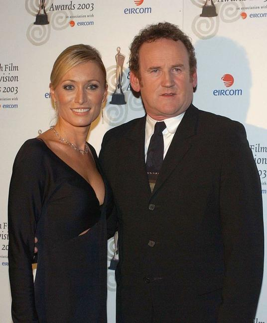 Victoria Smurfit and Colm Meaney at the Irish Film and Television Awards.