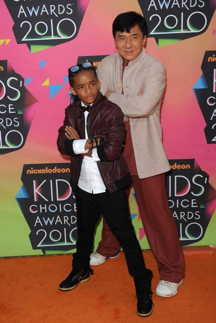 Jaden Smith and Jackie Chan at the Nickelodeon's 23rd Annual Kids Choice Awards.