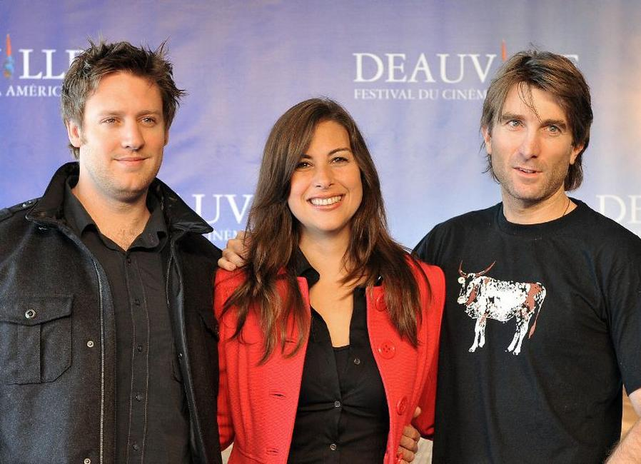 Neill Blomkamp, Terry Tatchell and Sharlto Copley at the photocall of