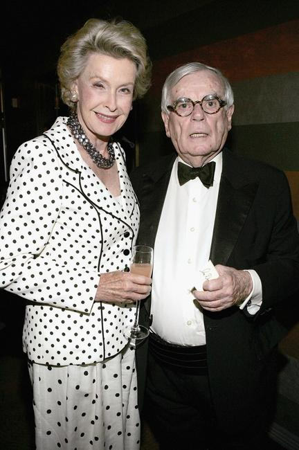 Dina Merrill and Dominick Dunne at the surprise 80th birthday party for legendary musician Bobby Short.