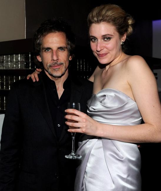 Ben Stiller and Greta Gerwig at the after party of the Los Angeles premiere of