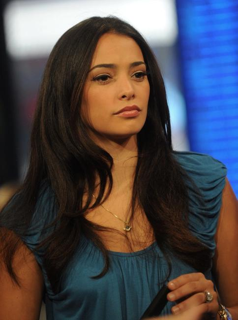 Natalie Martinez at the MTV studios in Times Square.