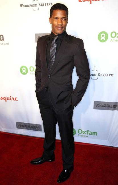 Nate Parker at the Annual Oxfam party.