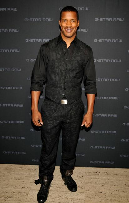 Nate Parker at the G Star Fall 2008 fashion show during the Mercedes-Benz Fashion Week Fall 2008.