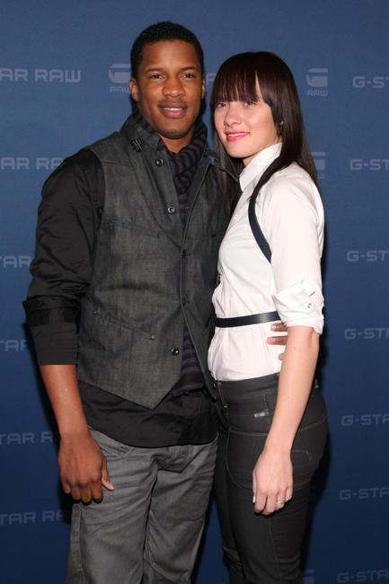 Nate Parker and Sarah Parker at the G Star Fall 2009 fashion show during the Mercedes-Benz Fashion Week.