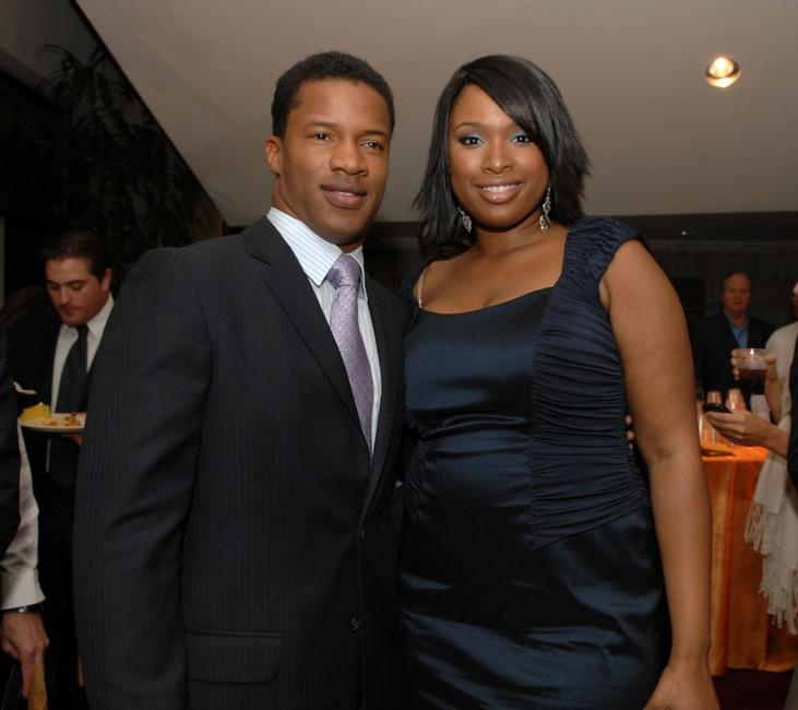 Nate Parker and Jennifer Hudson at the premiere of