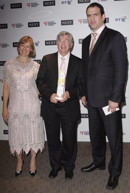 Jenny Agutter, Dave Jones and Martin Johnson at the Cystic Fibrosis Trust Breathing Life Awards.