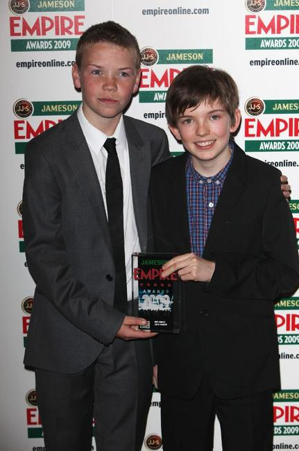 Will Poulter and Bill Milner at the Jameson Empire Awards 2009.