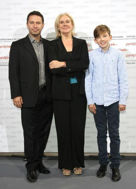 Producer Nick Hirschkorn, director Annabel Jankel and Bill Milner at the 4th International Rome Film Festival.