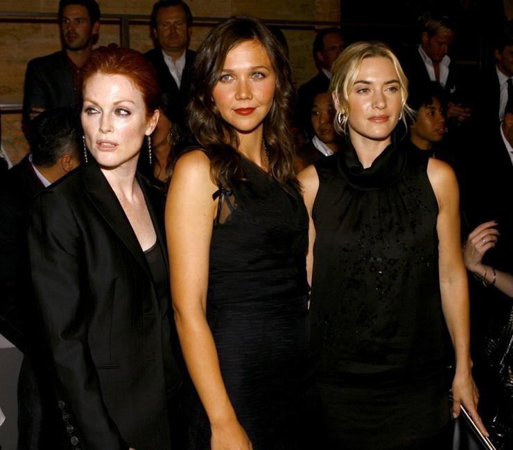 Julianne Moore, Maggie Gyllenhaal and Kate Winslet at the Boss Black Spring/Summer 2008 collection show.