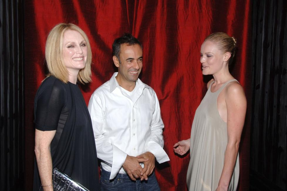 Julianne Moore, Francisco Costa and Kate Bosworth at the Calvin Klein After Party during the Mercedes-Benz Fashion Week Spring 2008.