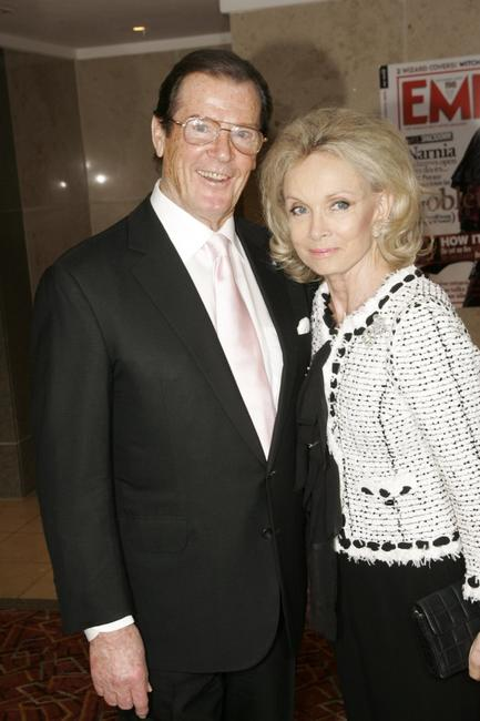 Roger Moore and his wife Christina 'Kiki' Tholstrup at the Sony Ericsson Empire Film Awards.