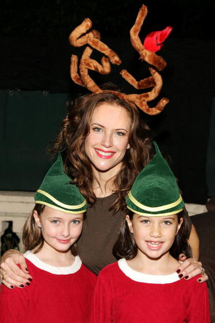 Cate Stanzani, Kelly Preston and Ella Travolta at the Church of Scientology's Christmas Stories XIV.
