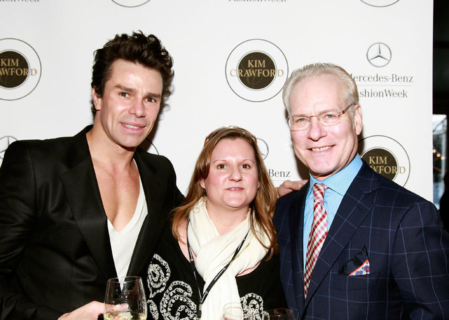 Patrick Duffy, Kate McManus and Tim Gunn at the Day 8 of Mercedes-Benz Fashion Week Fall 2011.