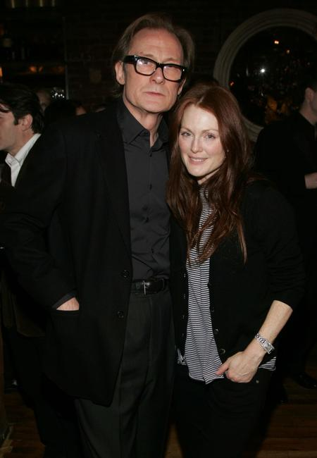 Bill Nighy and Julianne Moore at the Vanity Fair & Nicole Farhi celebration of style.