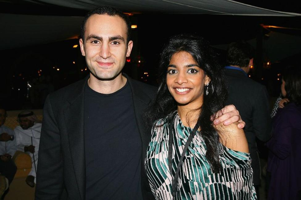 Khalid Abdalla and Amara Karan at the 4th Dubai International Film Festival.