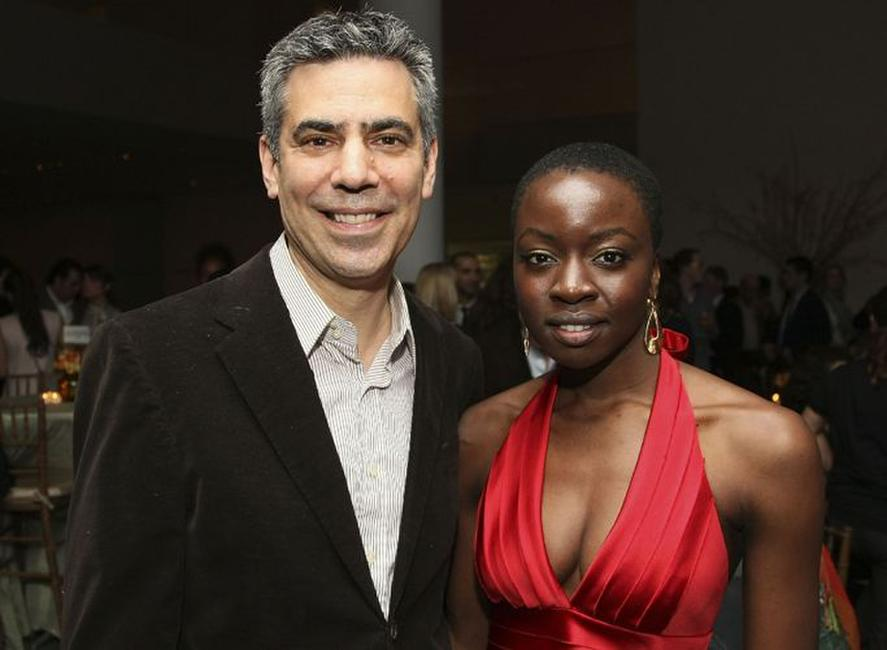 Michael London and Danai Gurira at the after party of the New York premiere of