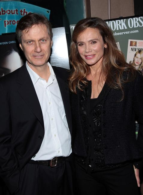 Lasse Hallstrom and Lena Olin at the New York premiere of