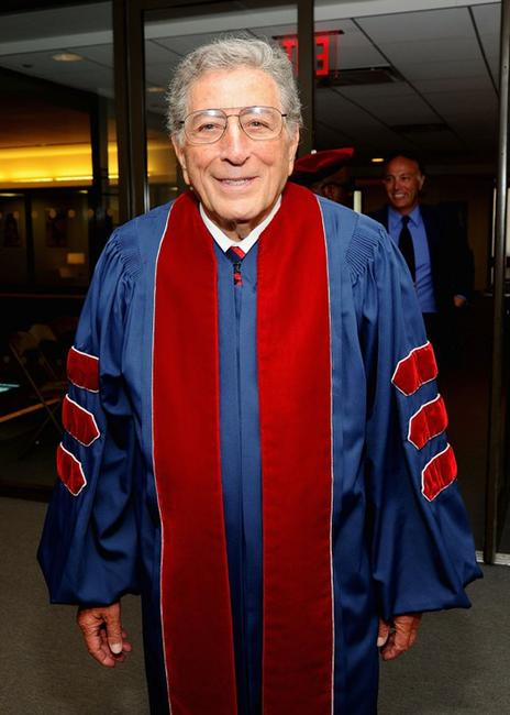 Tony Bennett at the 2010 commencement ceremony in New York City.