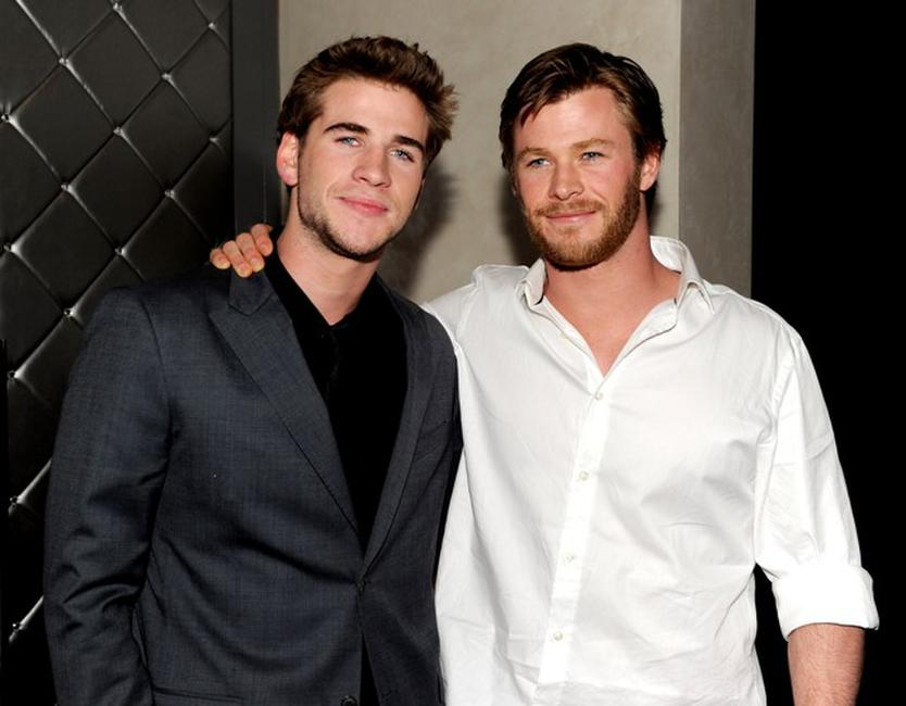 Liam Hemsworth and Chris Hemsworth at the after party of the premiere of