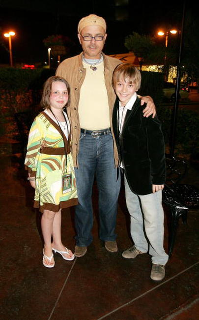 Joe Pantoliano, his daughter and Devon Gearhart at the Night of 1,000 Stars during the Sarasota Film Festival.