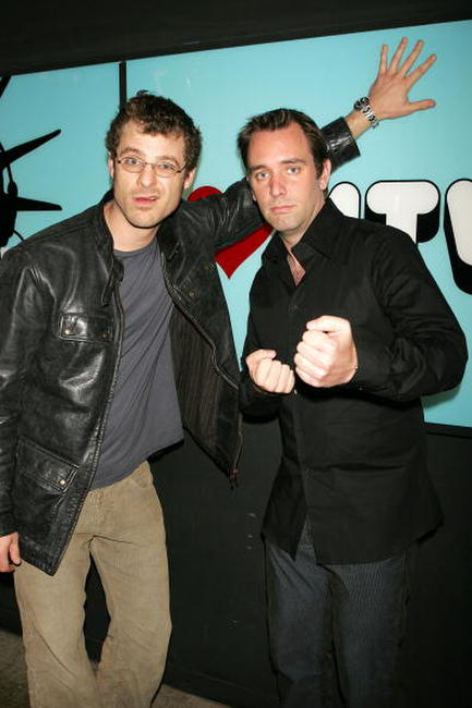 Matt Stone and Trey Parker at the MTV's Total Request Live.