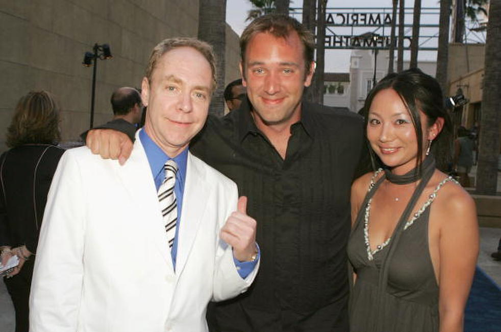 Teller, Trey Parker and Guest at the Los Angeles premiere of
