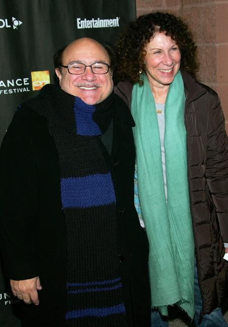 Danny DeVito and Rhea Perlman at the premiere of
