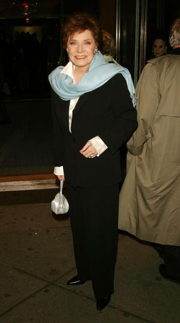 Polly Bergen at the New York opening night of