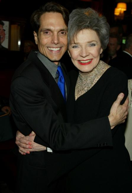 Polly Bergen and Richard Alfieri at the after-party for broadway comedy