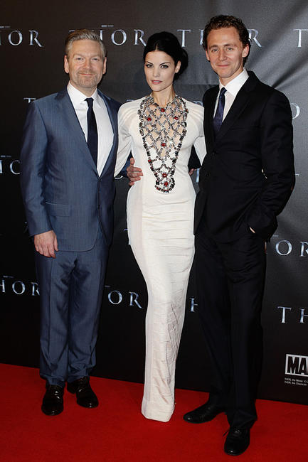 Kenneth Branagh, Jaimie Alexander and Tom Hiddleston at the California  premiere of