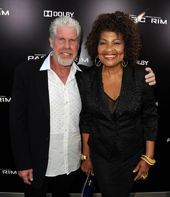 Ron Perlman and Opal Perlman at the Hollywood premiere of