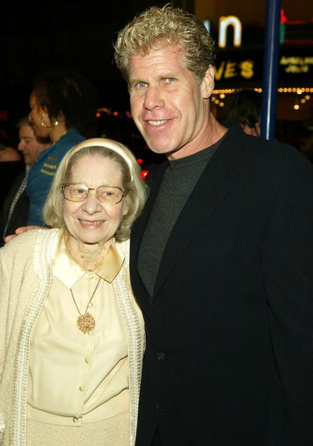 Dorothy and Ron Perlman at the premiere of