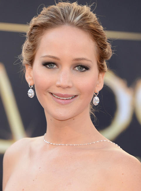 Jennifer Lawrence at the 85th Annual Academy Awards.