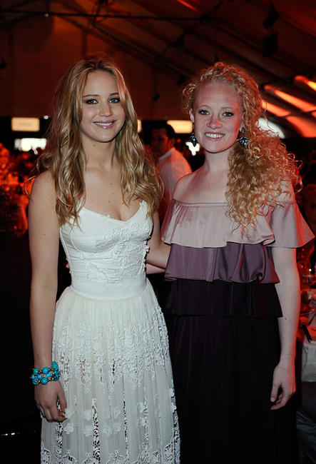 Jennifer Lawrence and Lauren Sweetser at the 2011 Film Independent Spirit Awards in California.