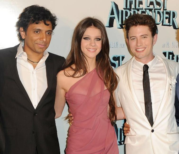M. Night Shyamalan, Nicola Peltz and Jackson Rathbone at the New York premiere of