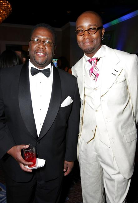 Wendell Pierce and Jonathan Slocumb at the 39th NAACP Image Awards after party.